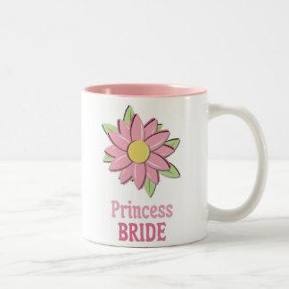 Pink Flower Princess Bride Two-Tone Coffee Mug