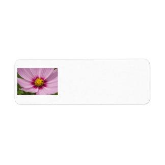 Pink Flower Return Address Label