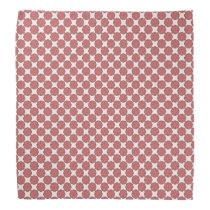 Pink Flower Ribbon Bandana