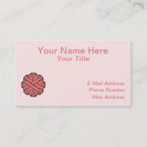 Pink Flower Ribbon Business Card