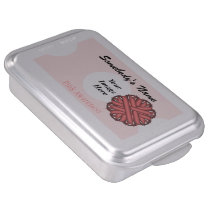 Pink Flower Ribbon by Kenneth Yoncich Cake Pan