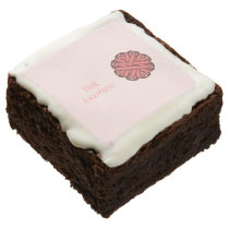 Pink Flower Ribbon by Kenneth Yoncich Chocolate Brownie