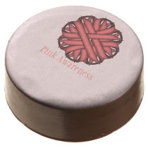 Pink Flower Ribbon by Kenneth Yoncich Chocolate Dipped Oreo