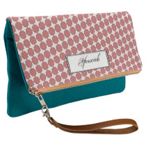 Pink Flower Ribbon by Kenneth Yoncich Clutch