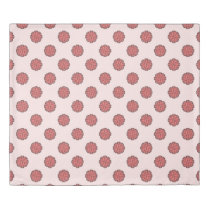 Pink Flower Ribbon by Kenneth Yoncich Duvet Cover