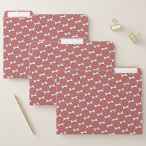 Pink Flower Ribbon by Kenneth Yoncich File Folder
