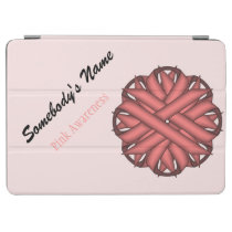 Pink Flower Ribbon by Kenneth Yoncich iPad Air Cover