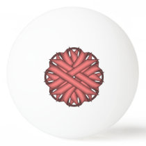 Pink Flower Ribbon by Kenneth Yoncich Ping-Pong Ball