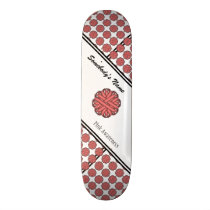 Pink Flower Ribbon by Kenneth Yoncich Skateboard