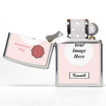 Pink Flower Ribbon by Kenneth Yoncich Zippo Lighter