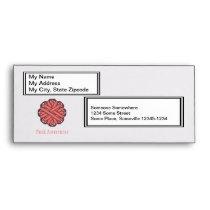 Pink Flower Ribbon Envelope