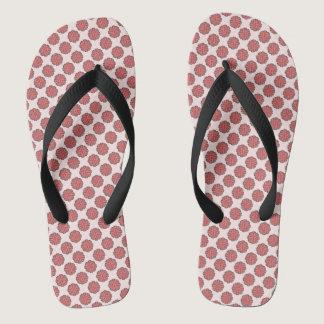 Pink Flower Ribbon Flip Flops
