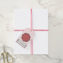 Pink Flower Ribbon Gift Tags