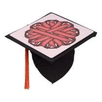 Pink Flower Ribbon Graduation Cap Topper