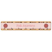 Pink Flower Ribbon Key Rack