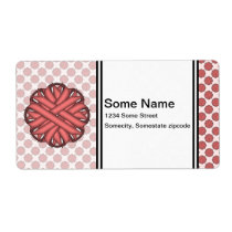 Pink Flower Ribbon Label