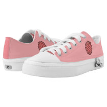 Pink Flower Ribbon Low-Top Sneakers