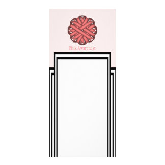 Pink Flower Ribbon Rack Card