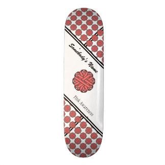 Pink Flower Ribbon Skateboard
