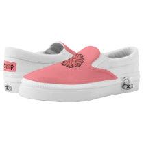 Pink Flower Ribbon Slip-On Sneakers