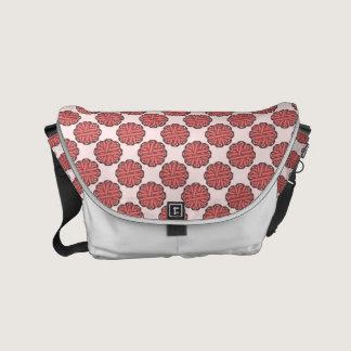Pink Flower Ribbon Small Messenger Bag