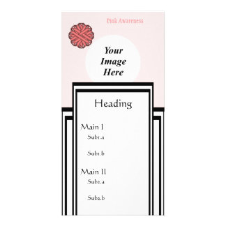 Pink Flower Ribbon Template