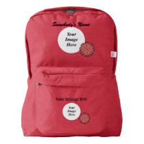 Pink Flower Ribbon Template Backpack