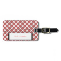 Pink Flower Ribbon Template Bag Tag