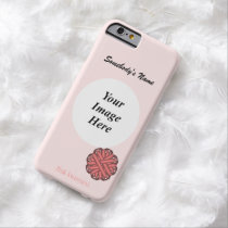 Pink Flower Ribbon Template by Kenneth Yoncich Barely There iPhone 6 Case