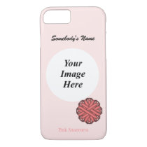 Pink Flower Ribbon Template by Kenneth Yoncich iPhone 8/7 Case