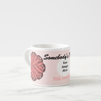 Pink Flower Ribbon Template by Kenneth Yoncich Espresso Cup