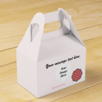 Pink Flower Ribbon Template by Kenneth Yoncich Favor Box