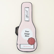 Pink Flower Ribbon Template by Kenneth Yoncich Guitar Case