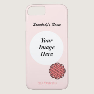 Pink Flower Ribbon Template by Kenneth Yoncich iPhone 7 Case