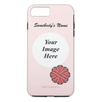 Pink Flower Ribbon Template by Kenneth Yoncich iPhone 8 Plus/7 Plus Case