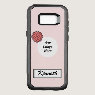 Pink Flower Ribbon Template by Kenneth Yoncich OtterBox Commuter Samsung Galaxy S8  Case