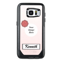 Pink Flower Ribbon Template by Kenneth Yoncich OtterBox Samsung Galaxy S7 Edge Case
