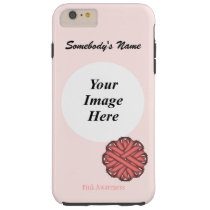 Pink Flower Ribbon Template by Kenneth Yoncich Tough iPhone 6 Plus Case
