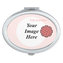 Pink Flower Ribbon Template by Kenneth Yoncich Vanity Mirror