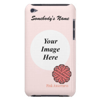 Pink Flower Ribbon Template Case-Mate iPod Touch Case