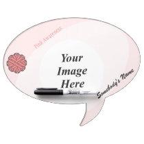 Pink Flower Ribbon Template Dry Erase Board