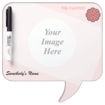 Pink Flower Ribbon Template Dry-Erase Board