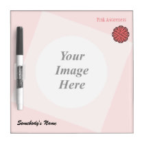 Pink Flower Ribbon Template Dry Erase Board