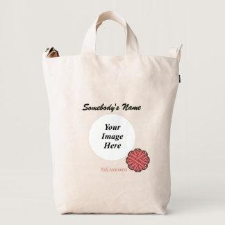Pink Flower Ribbon Template Duck Bag