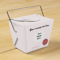 Pink Flower Ribbon Template Favor Box