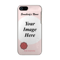 Pink Flower Ribbon Template Metallic iPhone SE/5/5s Case