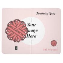 Pink Flower Ribbon Template Journal