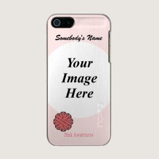 Pink Flower Ribbon Template Metallic iPhone SE/5/5s Case