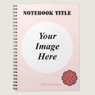 Pink Flower Ribbon Template Notebook