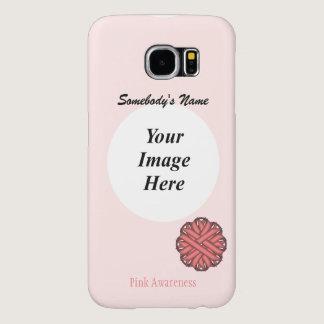 Pink Flower Ribbon Template Samsung Galaxy S6 Case